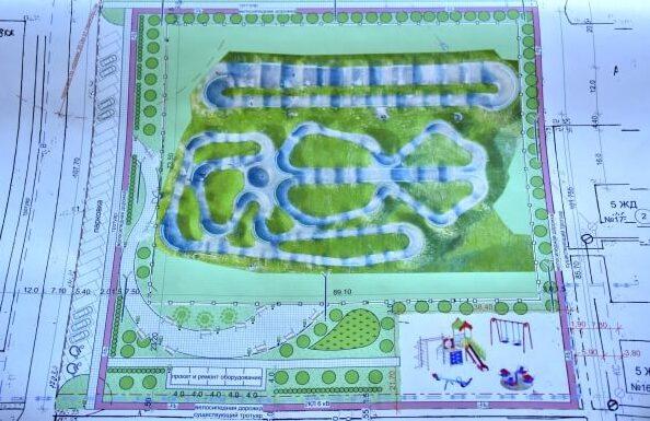 У Добропіллі планують облаштувати памп-трек (спеціальна велосипедна траса) та dream-парк