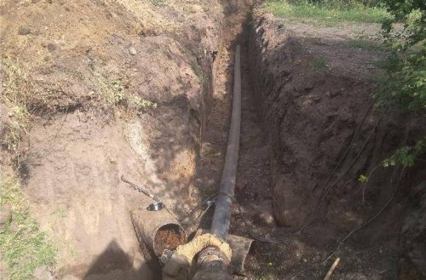 В Белозерском пpовели замену участка водовода