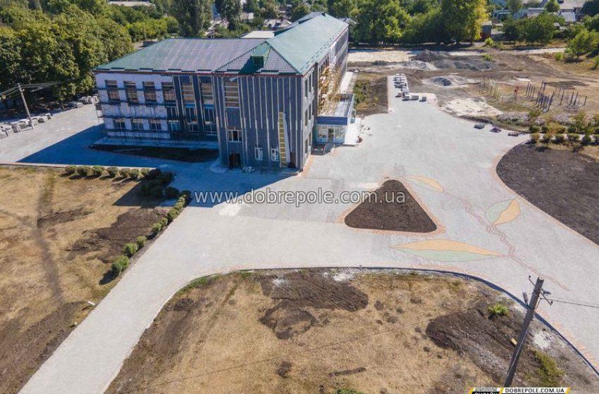 В Доброполье полным ходом идет ремонт школы №7 + ВИДЕО