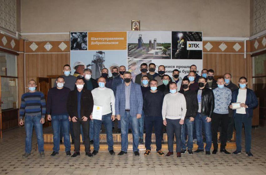 На шахте Добропольская бригада Дегтярева обогнала календарь на полтора месяца